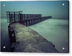 Foggy Night At Toes Beach Acrylic Print