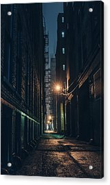 Foggy Night Chicago Acrylic Print