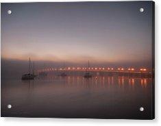 Foggy Nights Of Lights Acrylic Print