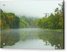 Foggy Reflections Acrylic Print by Karol Livote