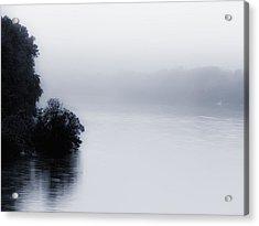 Foggy River Acrylic Print by Bill Cannon