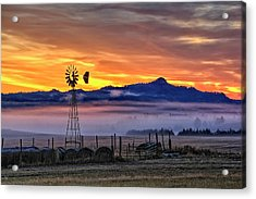 Acrylic Print featuring the photograph Foggy Spearfish Sunrise by Fiskr Larsen
