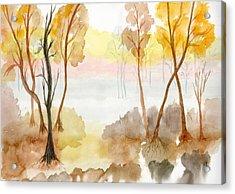 Foggy Suwannee Acrylic Print