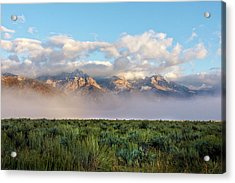 Foggy Teton Sunrise - Grand Tetons National Park Wyoming Acrylic Print