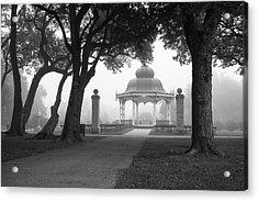 Foggy Tower Grove Acrylic Print