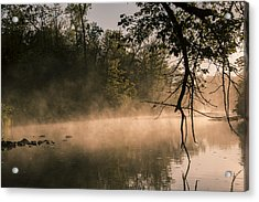 Foggy Water Acrylic Print by Annette Berglund
