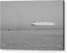 Fogs Floating Barge Acrylic Print by WaLdEmAr BoRrErO