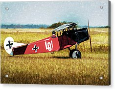 Acrylic Print featuring the photograph Fokker D Vii by James Barber