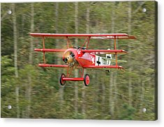 Fokker Dr.i Flyby Acrylic Print by Liza Eckardt