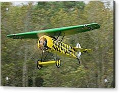Fokker D.viii Taking Off Acrylic Print by Liza Eckardt