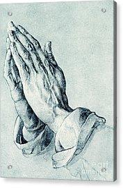 Folded Hands Of An Apostle Acrylic Print