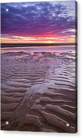 Folds In The Sand - Vertical Acrylic Print