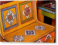Folk-art Bench Acrylic Print