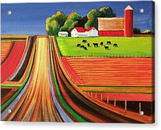 Folk Art Farm Acrylic Print