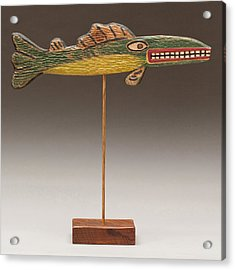 Folk Art Fish Acrylic Print by James Neill