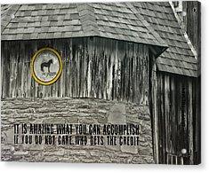 Folk Art Quote Acrylic Print by JAMART Photography