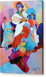Folk Dancers Acrylic Print