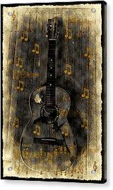 Folk Guitar Acrylic Print by Bill Cannon