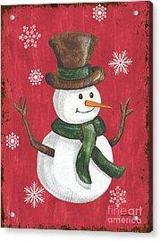 Folk Snowman Acrylic Print