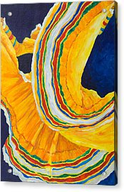 Folklorica In Yellow Acrylic Print