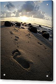 Follow In His Steps Acrylic Print