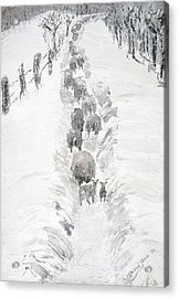 Follow The Flock Acrylic Print