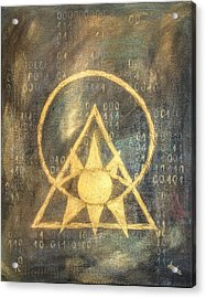 Follow The Light - Illuminati And Binary Acrylic Print