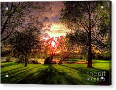 Follow The Light Acrylic Print by Kim Shatwell-Irishphotographer