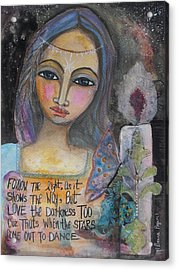 Acrylic Print featuring the painting Follow The Light by Prerna Poojara