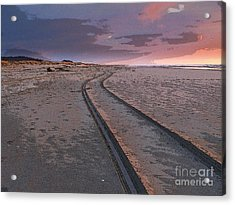 Acrylic Print featuring the photograph Follow The Sandy Road by Carol Grimes