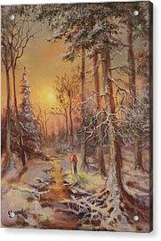 Follow The Stream Acrylic Print by Tom Shropshire