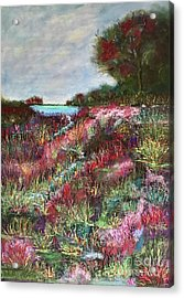 Acrylic Print featuring the pastel Follow The Whispers by Vickie Scarlett-Fisher