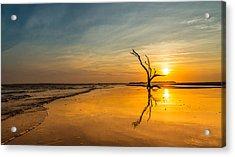 Folly Beach Skeleton Tree At Sunset - Folly Beach Sc Acrylic Print