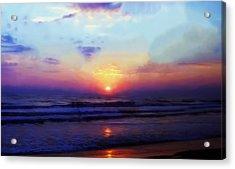 Folly Beach South Carolina Sunrise Acrylic Print