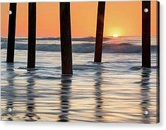 Folly Beach Sunrise Charleston South Carolina Acrylic Print by Mark VanDyke