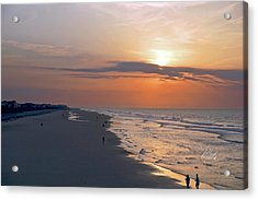 Folly Beach Sunrise Acrylic Print by Meta Gatschenberger