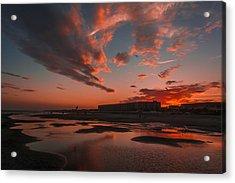 Folly Beach Sunset Acrylic Print