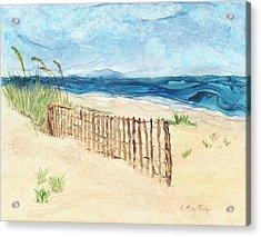 Folly Field Fence Acrylic Print