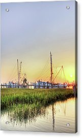 Folly Fishing Boats  Acrylic Print by Drew Castelhano