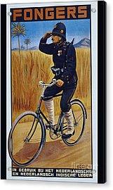 Fongers In Gebruik Bil Nederlandsche En Nederlndsch Indische Leger Vintage Cycle Poster Acrylic Print