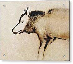 Font De Gaume Wolf Acrylic Print