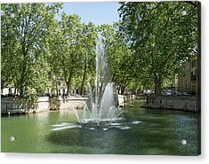 Acrylic Print featuring the photograph Fontaine De Nimes by Scott Carruthers