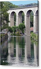 Acrylic Print featuring the photograph Fontaine De Valcluse In Provence by Stan and Anne Foster