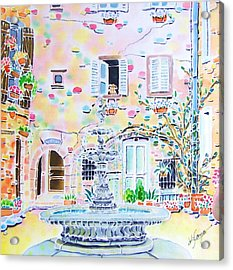 Fontaine Acrylic Print