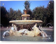 Fontana Dei Cavalli Marini  Acrylic Print by Fabrizio Ruggeri