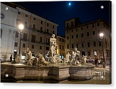 Fontana Del Moro I Acrylic Print by Fabrizio Ruggeri