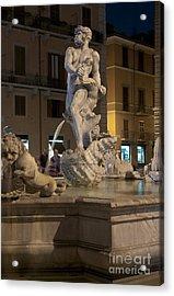 Fontana Del Moro II Acrylic Print by Fabrizio Ruggeri