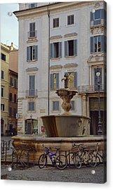 Fontana Di Piazza Farnese Acrylic Print by JAMART Photography