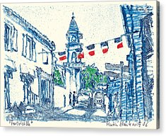 Acrylic Print featuring the painting Fontvieille Village Provence by Martin Stankewitz