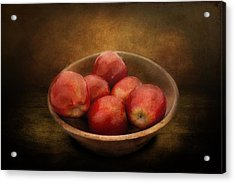 Food - Apples - A Bowl Of Apples  Acrylic Print by Mike Savad